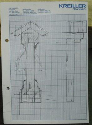 Der Entwurf des Glockenstuhls von W.Lorenz
