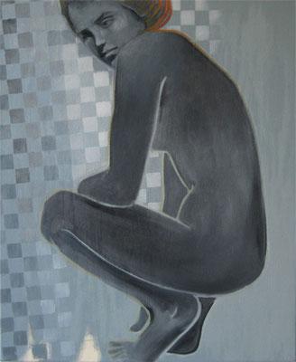 Figurstudie, Öl auf Leinwand