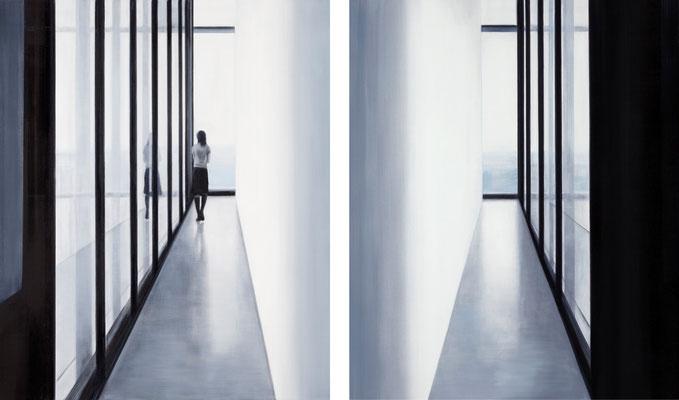 Zeit (zweiteilig je 120x100)  120x200cm 2011