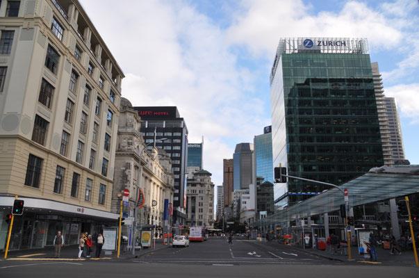 Sightseeing in Auckland City - Blick vom Hafen in Richtung City