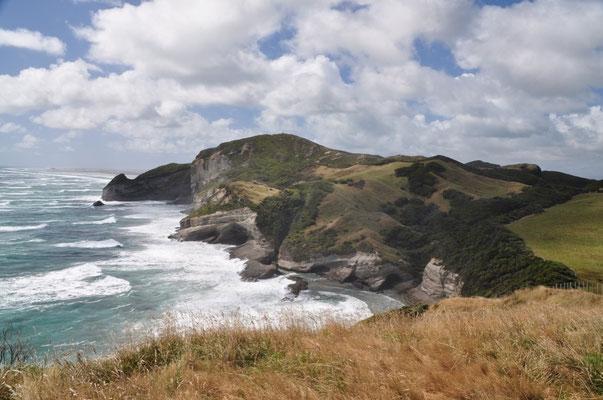 Die Küste bei Cape Farewell