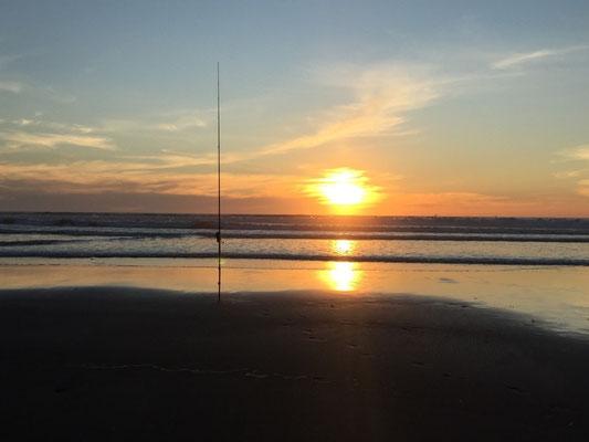 Endlich mal wieder ein schöner Sonnenuntergang über dem Meer