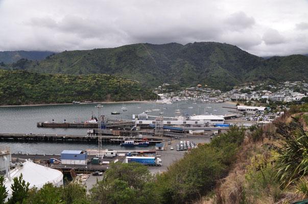 Aussicht auf den Hafen von Picton