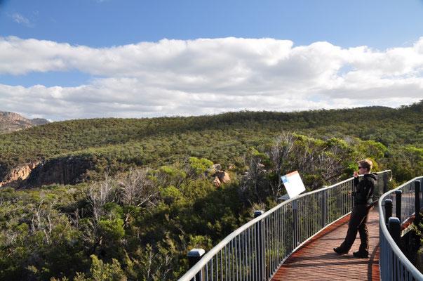 Freycinet National Park: Die Informationstafeln werden - zumindest von mir - genau studiert. :)