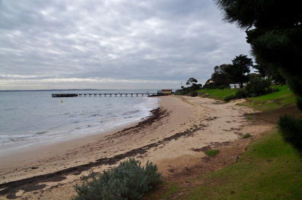 Strandabschnitt bei Cowes im Norden der Insel