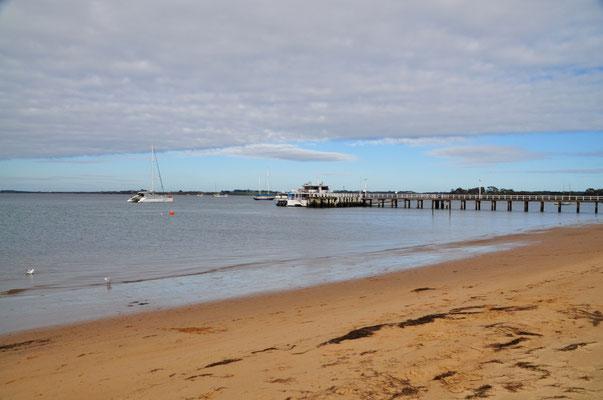 Bootshafen bei Rhyll im Osten der Insel