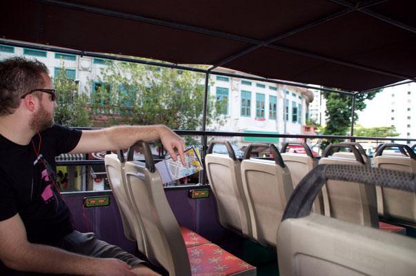 Auf unserer Hopp on-Hopp off-Bustour