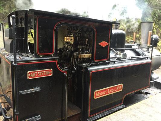 Dampflok der Westcoast Wilderness Eisenbahn