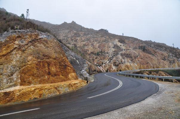 Kurvenreiche Fahrt auf dem Lyell Highway