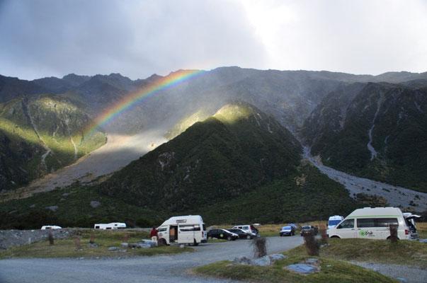 Campingplatz beim Aoraki Mount Cook Village
