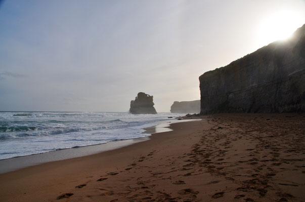 """Am Strand von """"Gibson Steps"""" mit Blick in Richtung West"""