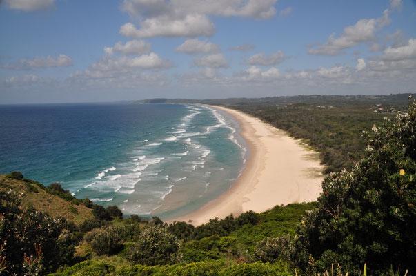 Blick auf den Tallow Beach