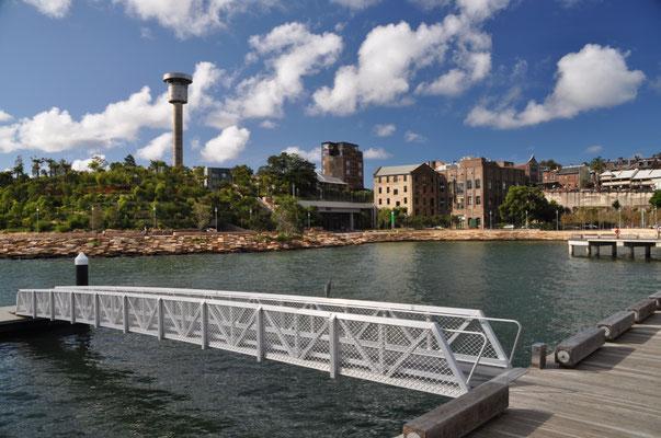 Ausschnitt des neu entstehenden Barangaroo-Hafenviertels.
