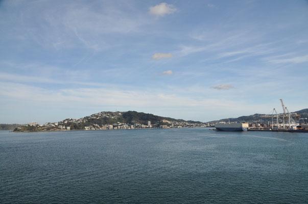 Wir nähern uns dem Hafen von Picton