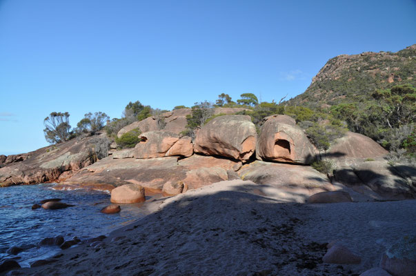 Freycinet National Park: Skurile Felsformationen