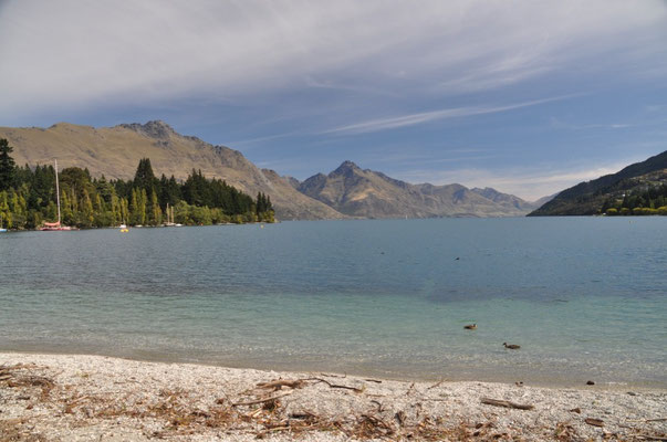 Am Ufer des Lake Wakatipu in Queenstown