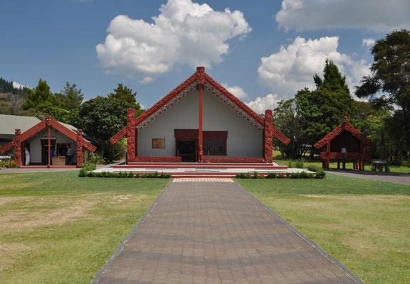 Te Puia Institute - Kulturhaus, wo die Maori Kulturshow stattfand