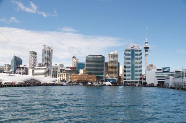 Skyline von Auckland - Aussicht von unserer Bootstour