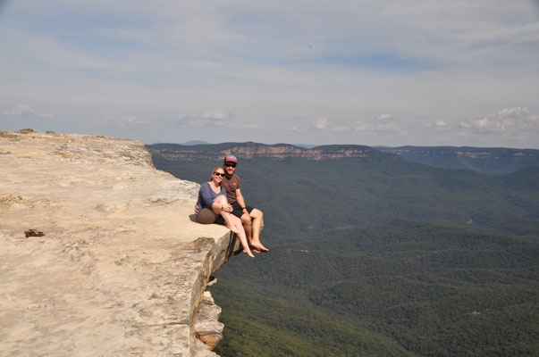Aussichtspunkt zwischen Bullaburra und Wentworth Falls - ein wahrer Geheimtipp