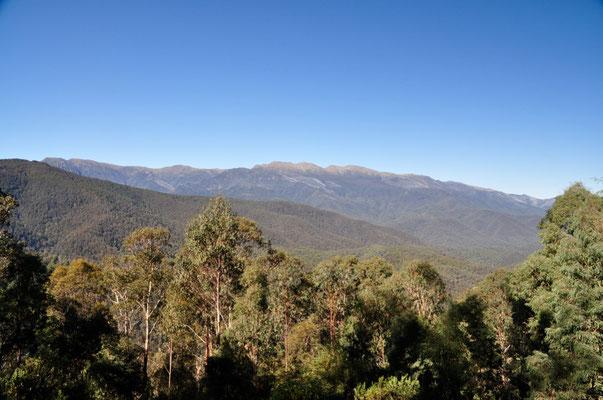 Aussicht auf den westlichen Hauptgebirgszug (Main Range)