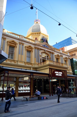 Adelaide Arcade: Das Shopping-Gebäude, in dem sich heute über 100 Läden befinden, wurde 1885 in nur 5 Monaten erbaut. Beeindruckend, nicht?