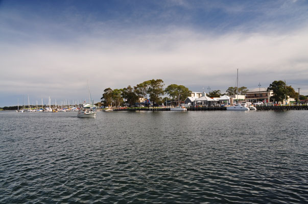 Blick von Raymond Island rüber nach Paynesville