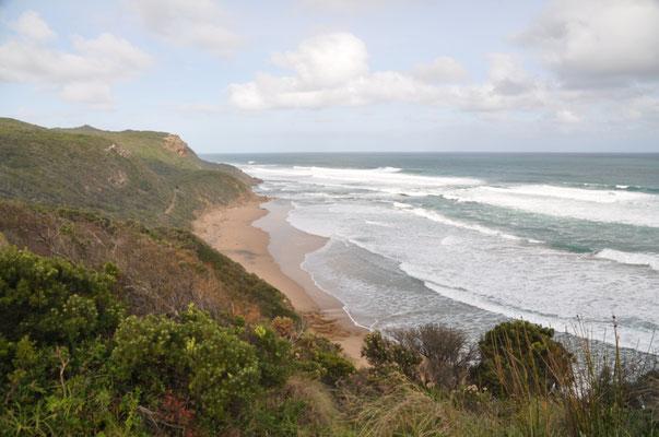 """Blick auf den Küstenabschnitt bei """"Gibson Steps"""""""