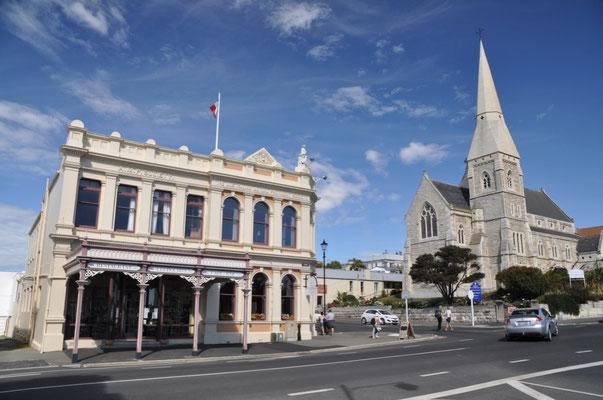 Zahlreiche Gebäude aus dem 19. Jh. wurden aus dem Oamaru Kalkstein hergestellt.