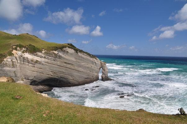 Cape Farewell - Nordkapp der Südinsel mit markantem Felsentor