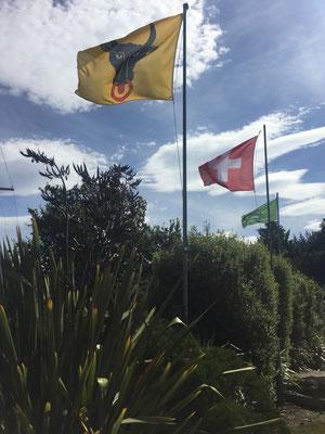 Ä Urner-Fahne mitten in Neuseeland! Auch hier darf diese natürlich nicht fehlen! ;)
