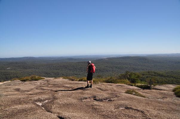 """...bot sich uns oben auf dem """"Bald Rock"""" ein herrliches Panorama."""