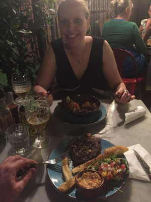 Leckeres Essen in einem südamerikanischen Restaurant im Ponsonby-Viertel