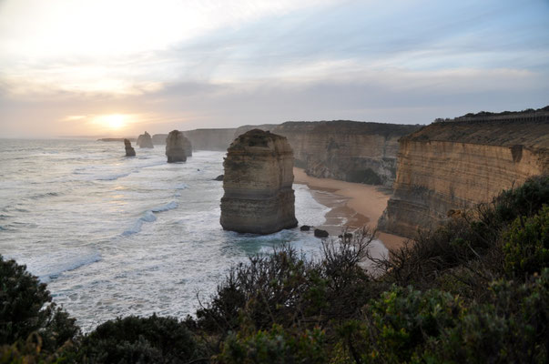 """The Twelve Apostles"" im Sonnenuntergang"