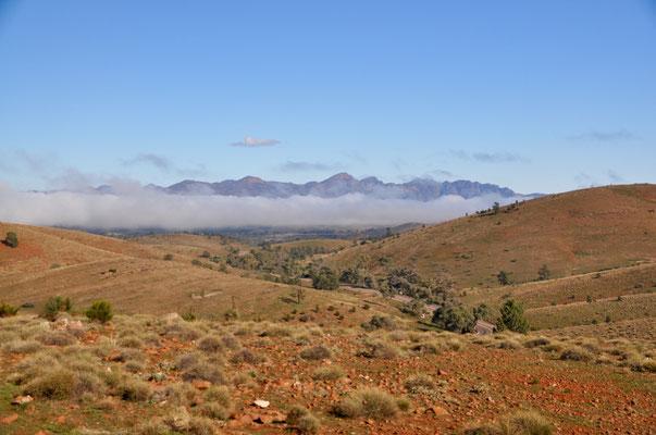Blick zu den Flinders Ranges