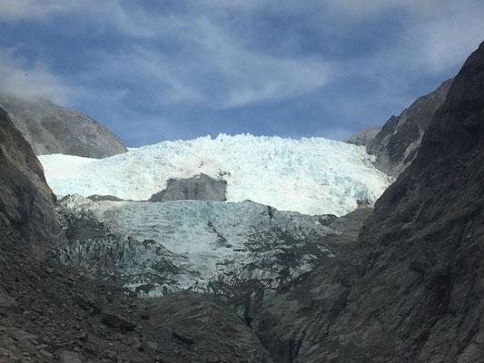Freie Sicht auf den Franz Josef Gletscher