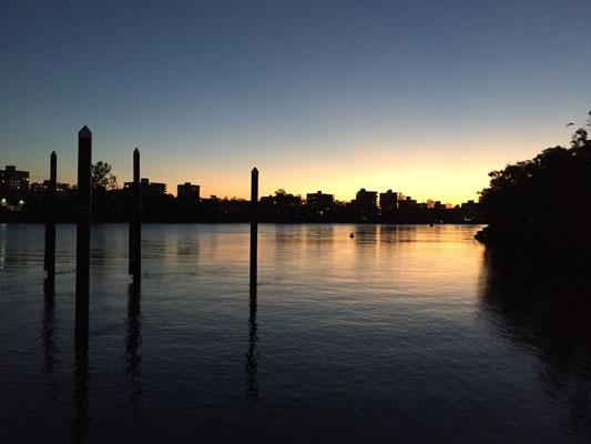 Abendstimmung über dem Brisbane River