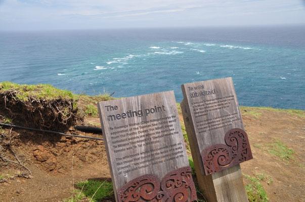 Zusammentreffen der Tasman Sea und des Pazifik