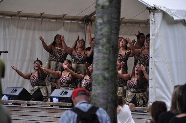 Konzert (Tanz und Gesang) der Maori