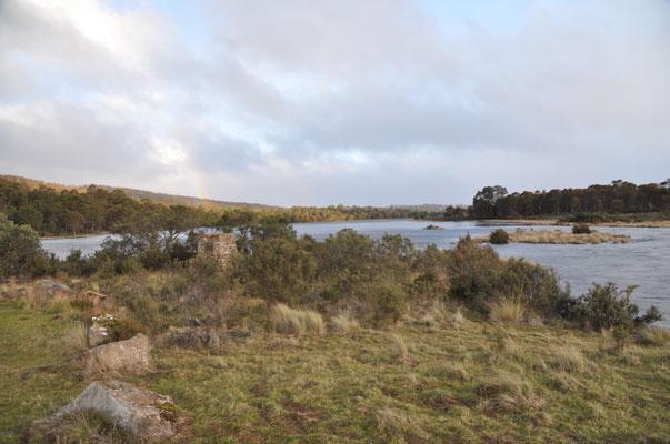Unterwegs nach Tarraleah - die Wolken lichten sich (seht ihr den Regenbogen?)