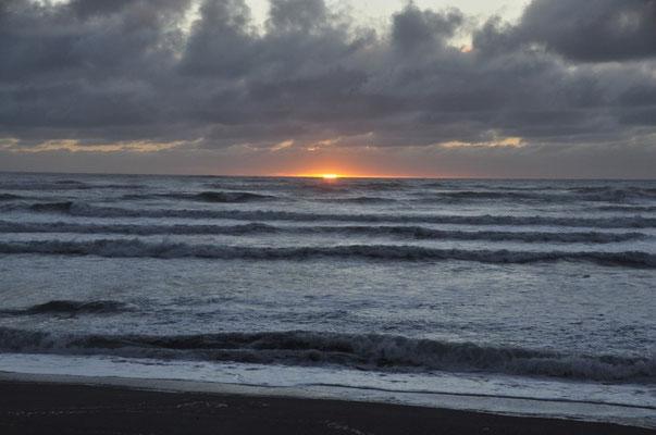 Sonnenuntergang über dem Tasmanischen Meer