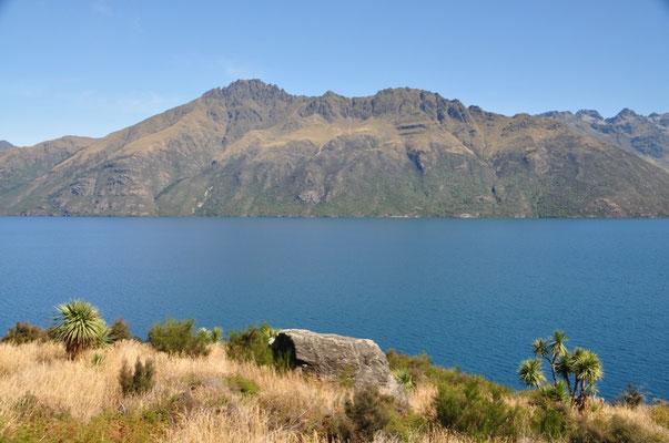 Herrliche Aussicht entlang des Lake Wakatipu