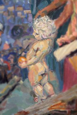 """Detail des Gemäldes """"Kreuzabnahme"""""""