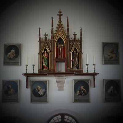 Kath. Kirche St. Johannes Evangelist Medebach-Berge, Westwand/ Eingang