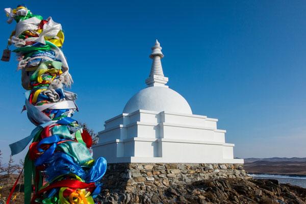 Die Stupa auf der Insel Ogoi