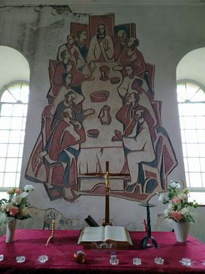 Abendmahl in der Kirche von Prädikow
