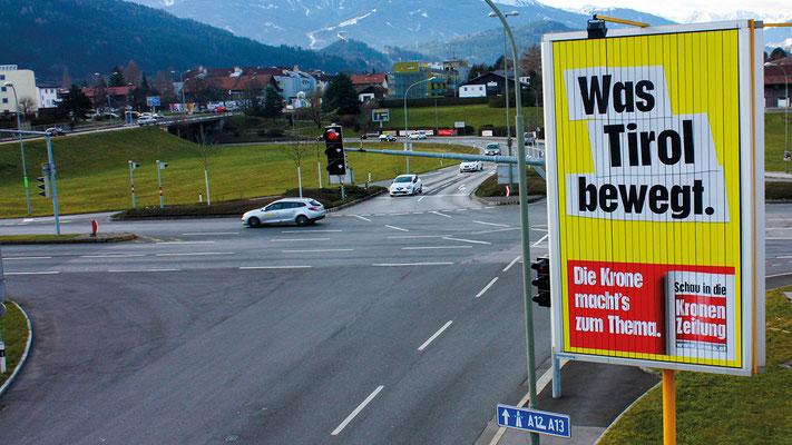 Prismenwender Grabenweg/Andechsstraße in Innsbruck:  13 m² (Blickrichtung Westen)