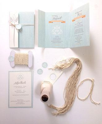 Hochzeitseinladungskarte 2017
