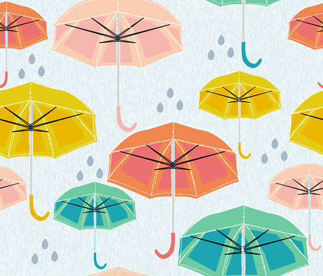 Musterdesign (umbrella), Pattern, Rapport, Spoonflower 2015