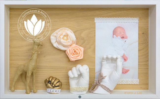Objektrahmen mit Eiche Rückwand für die Meilensteine Deines Babys