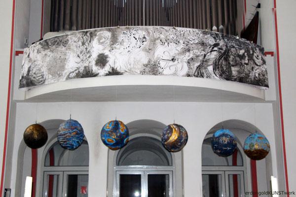 """Ausstellung"""" Creation and Recreation"""" in der Erphokirche Münster von erdengoldKUNSTwerk Nathalie Arun und Cornelia Kalkhoff"""